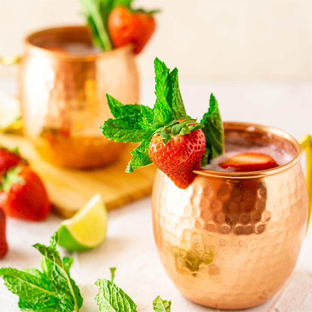 Strawberry-Mint Moscow Mule