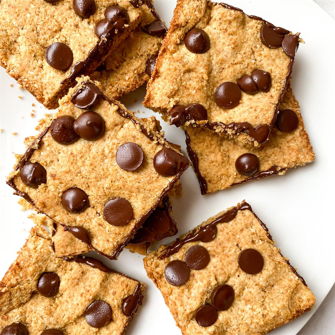 Tahini Chip Bars
