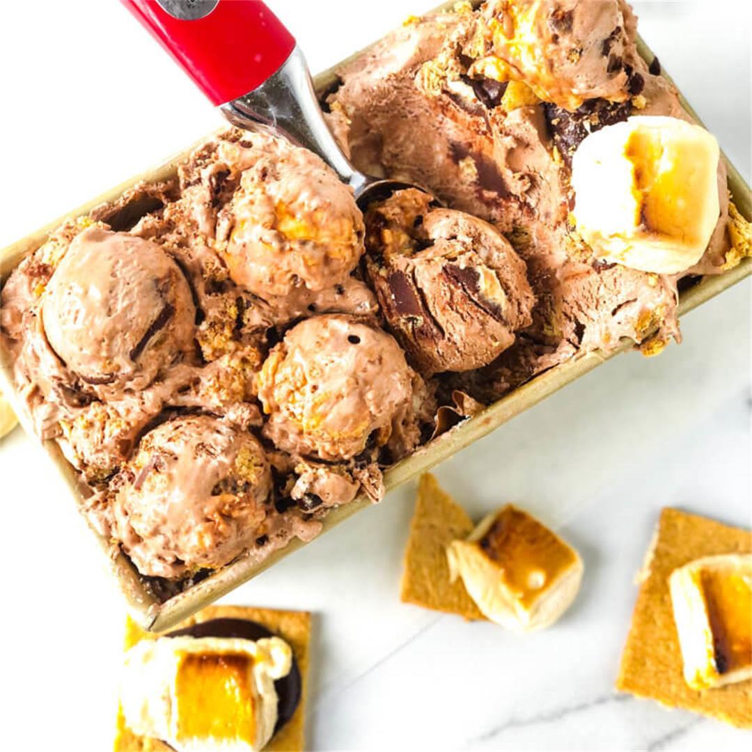 No Churn S'mores Ice Cream