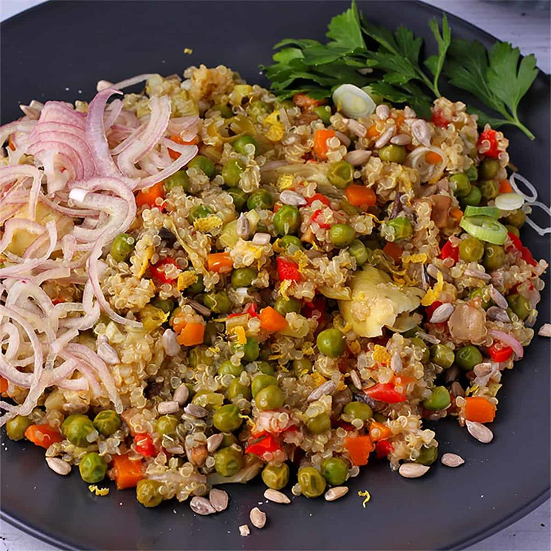 Sunny quinoa with vegetables