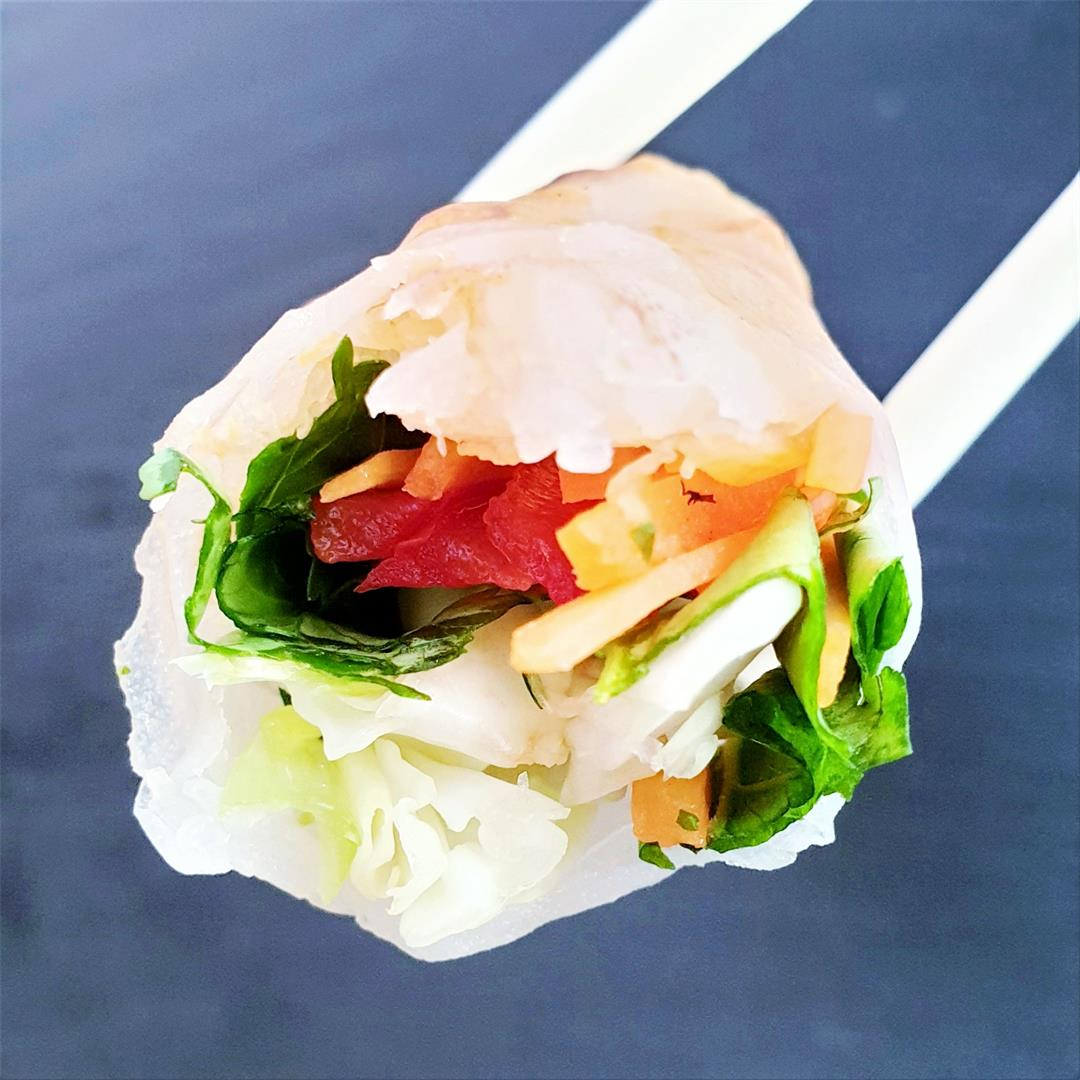 Vietnamese Summer Rolls with King Prawn