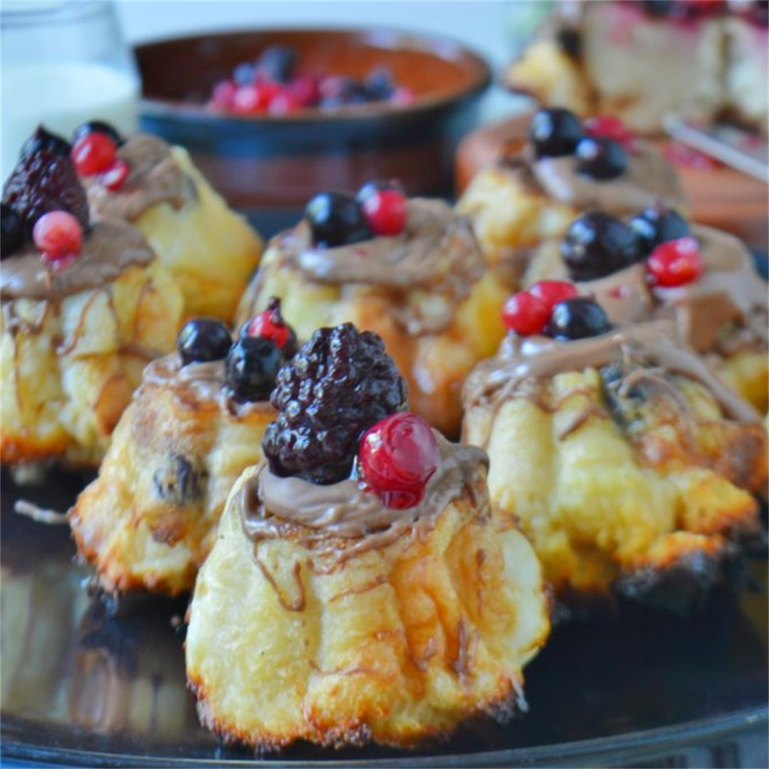 Leftover Easter Bread Cakes with Berries — Tasty Food for Busy