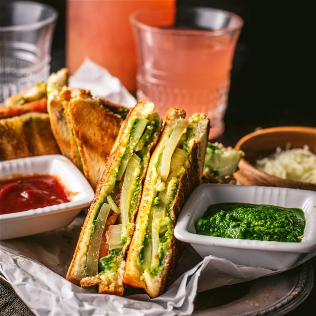 Bombay Grilled Veggie Sandwich Recipe