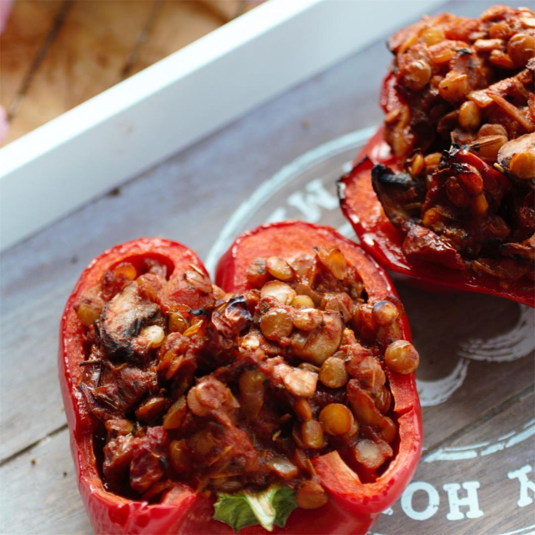 Lentil Stuffed Peppers Recipe