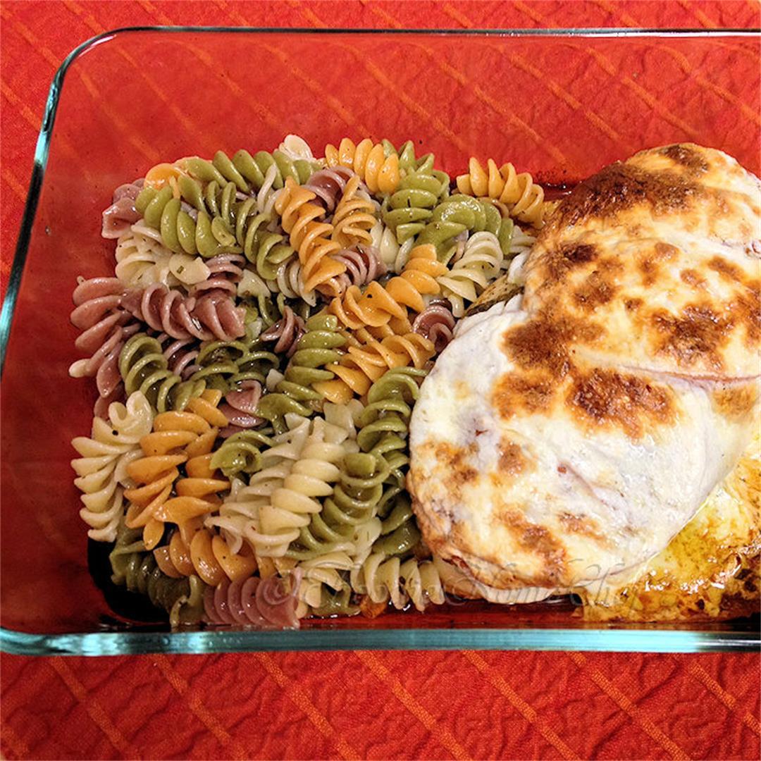 Italian Chicken with Oregano Infused Pasta