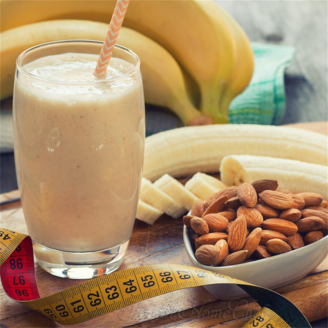 Banana Almond Protein Smoothie