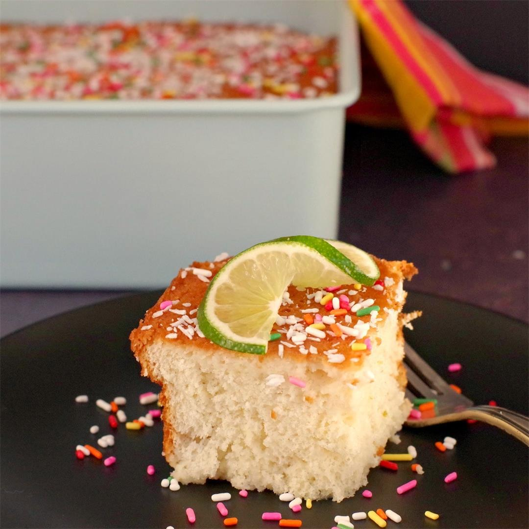 Coconut Lime Tres Leches Cake