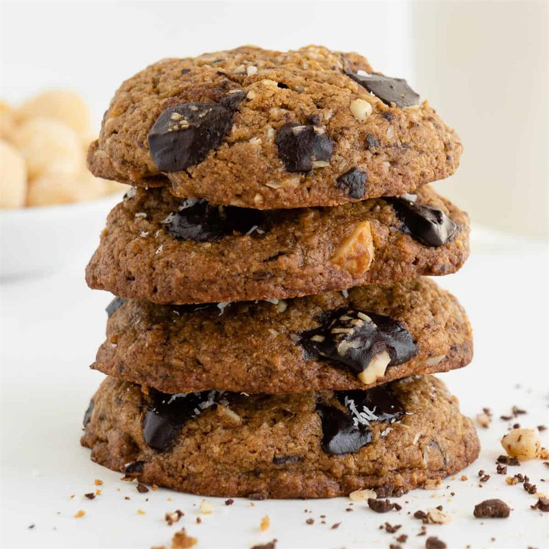 Chocolate Chunk Hawaiian Cookies (Vegan & Gluten-Free)
