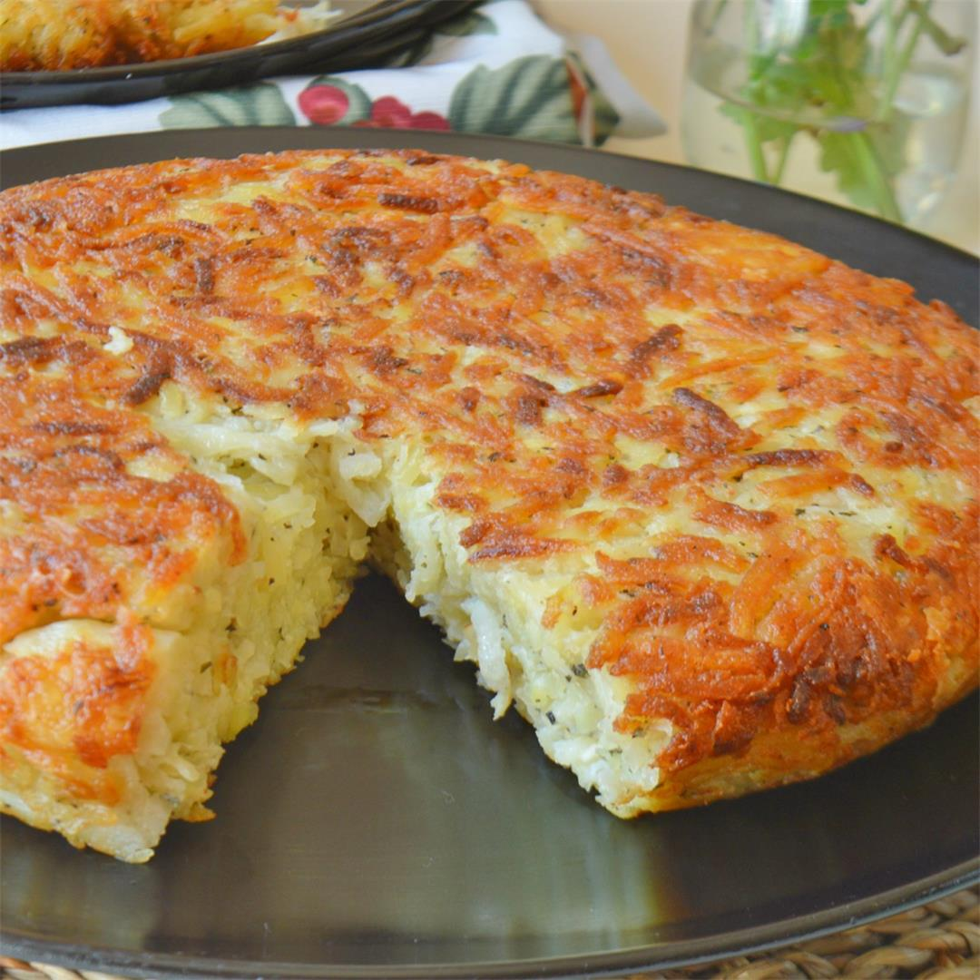 Potato Pancake with Feta Cheese — Tasty Food for Busy Mums