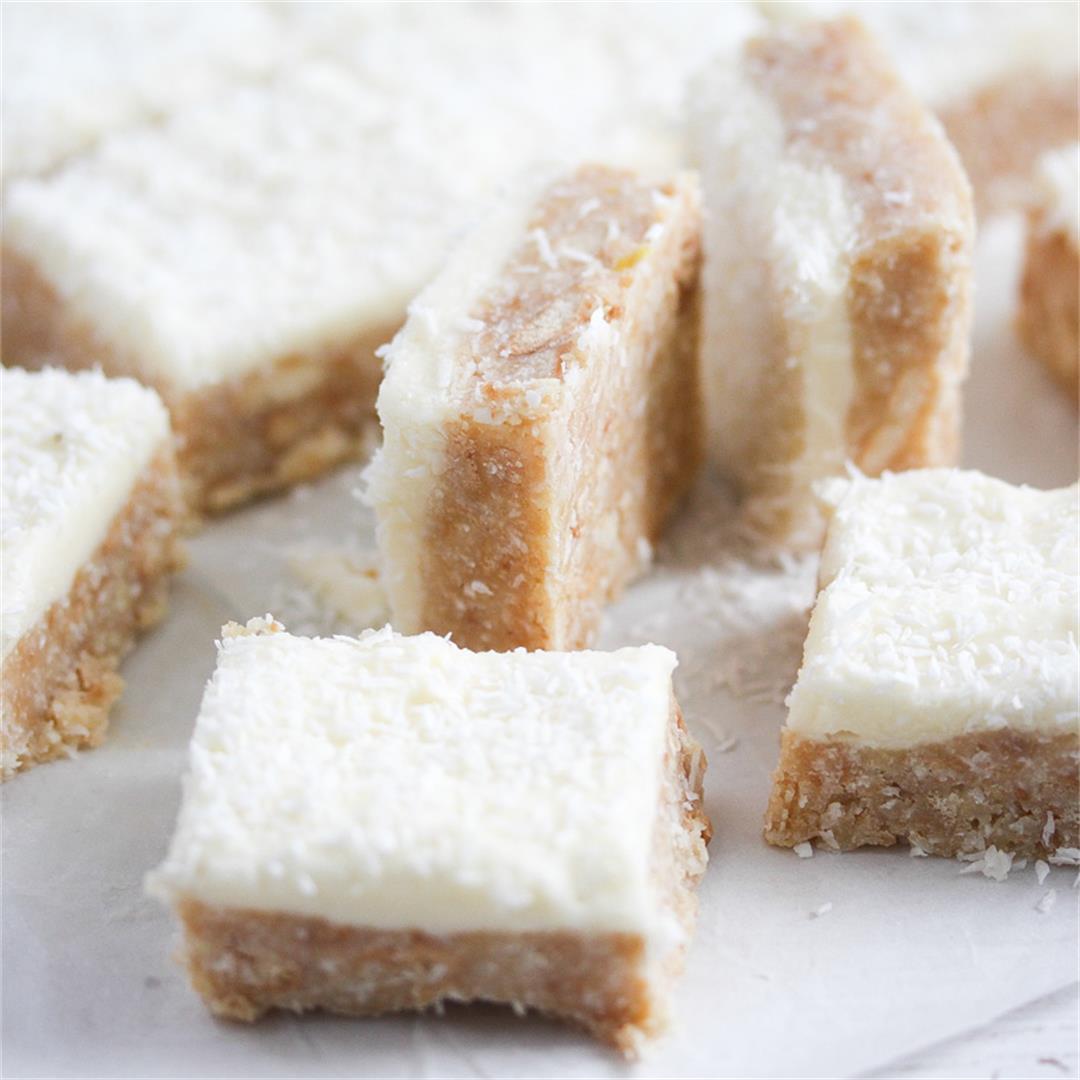 No-Bake Lemon Slice with Coconut (Australian Dessert)