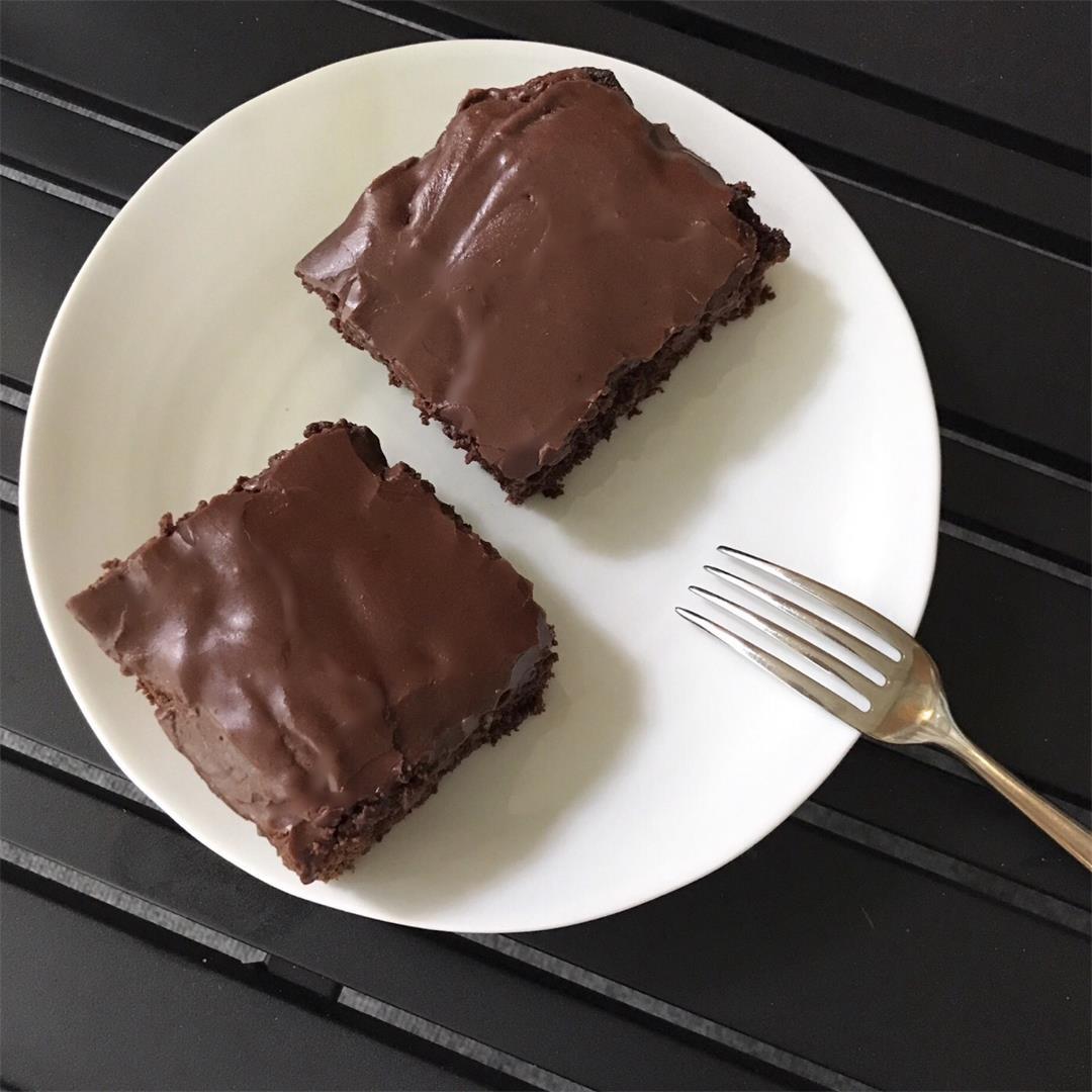 Iced Chocolate Zucchini Brownies