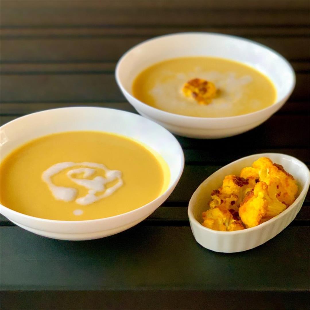 Creamy Cauliflower Coconut Soup (Vegan)