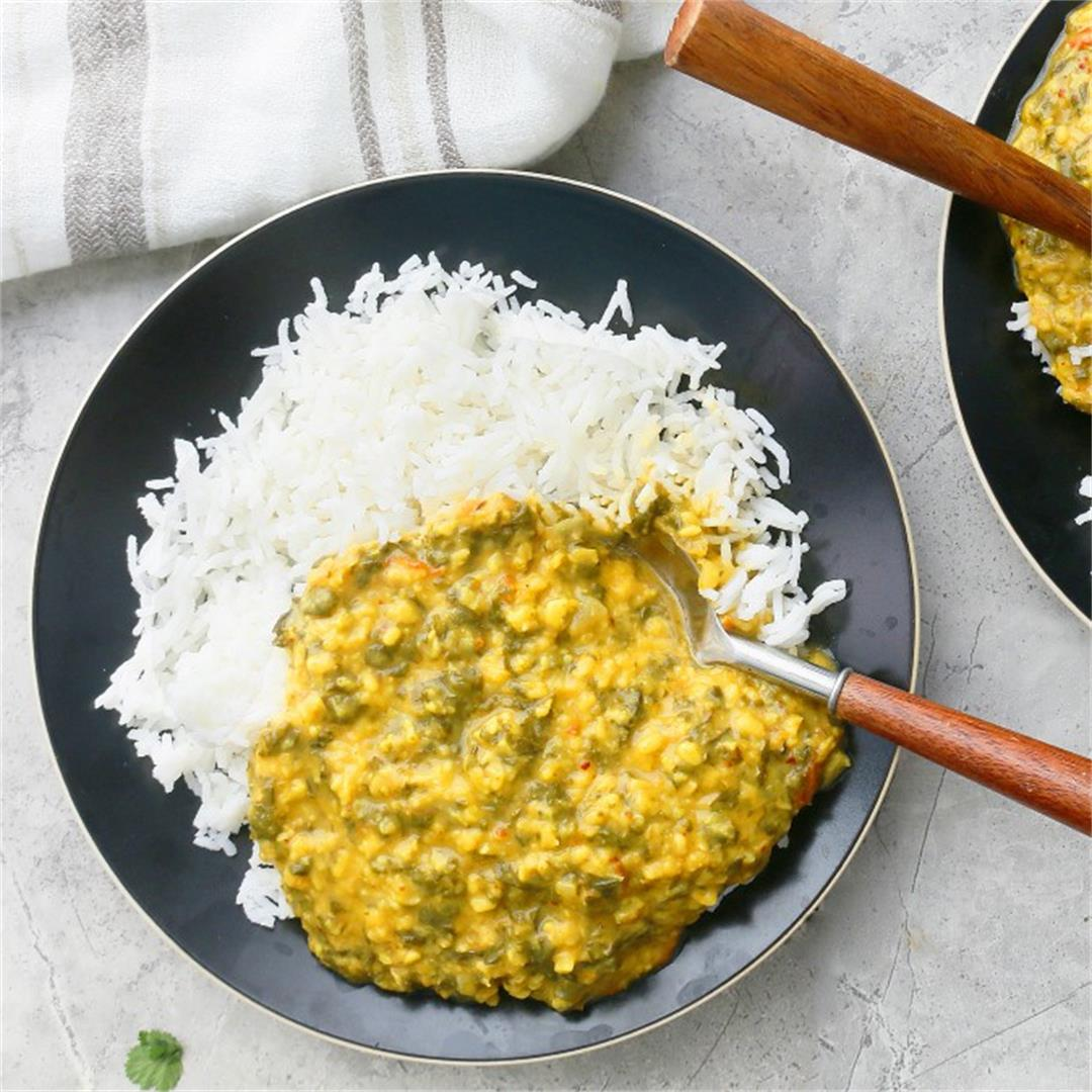 Instant Pot Dal with Lots of Kale - Kitchen @ Hoskins