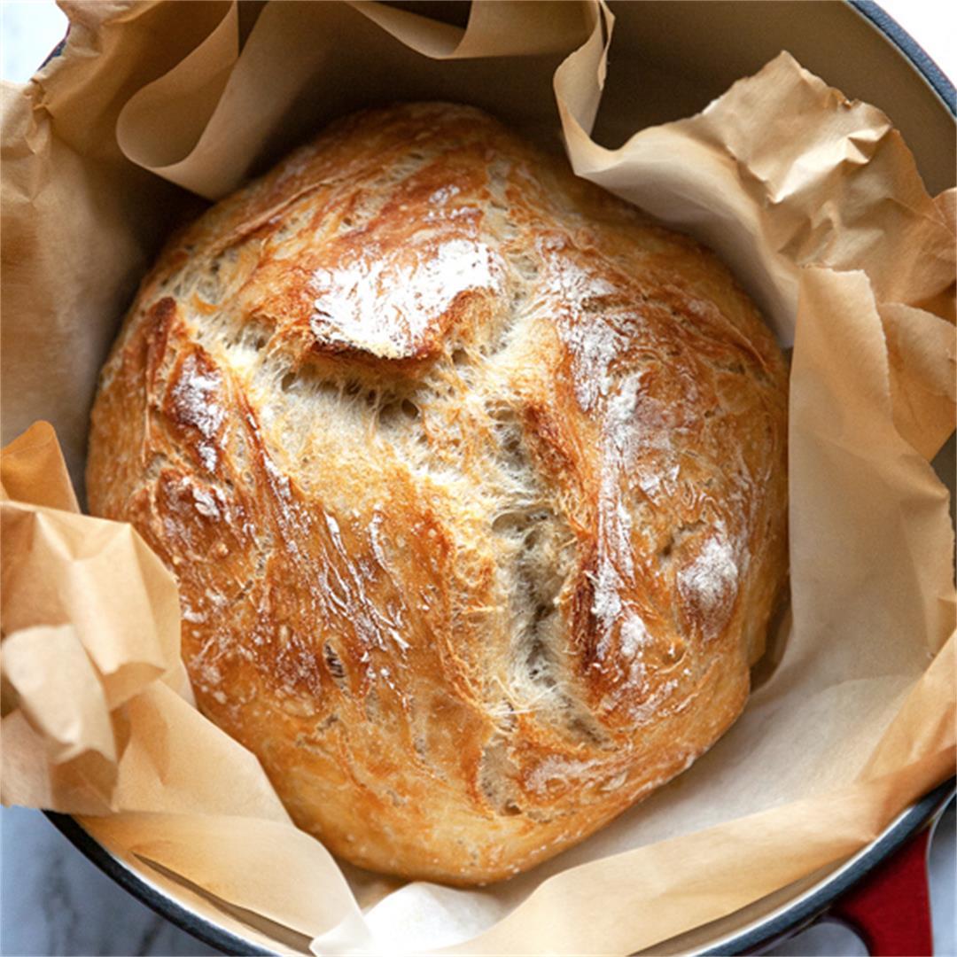 Foolproof Artisan No Knead Bread Recipe – Step by Step Tutorial