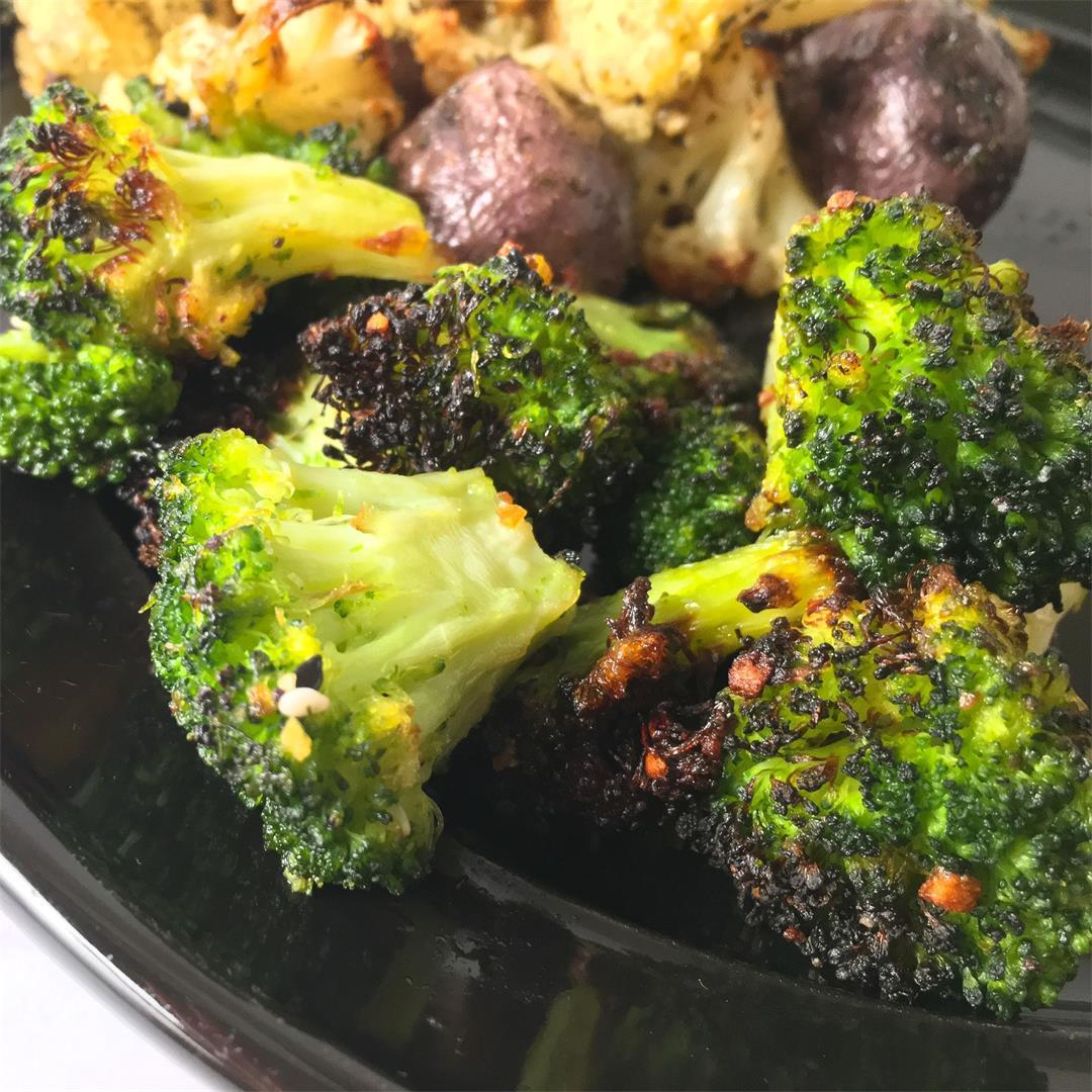 Air Fryer Broccoli (No more mushy frozen veggies!)