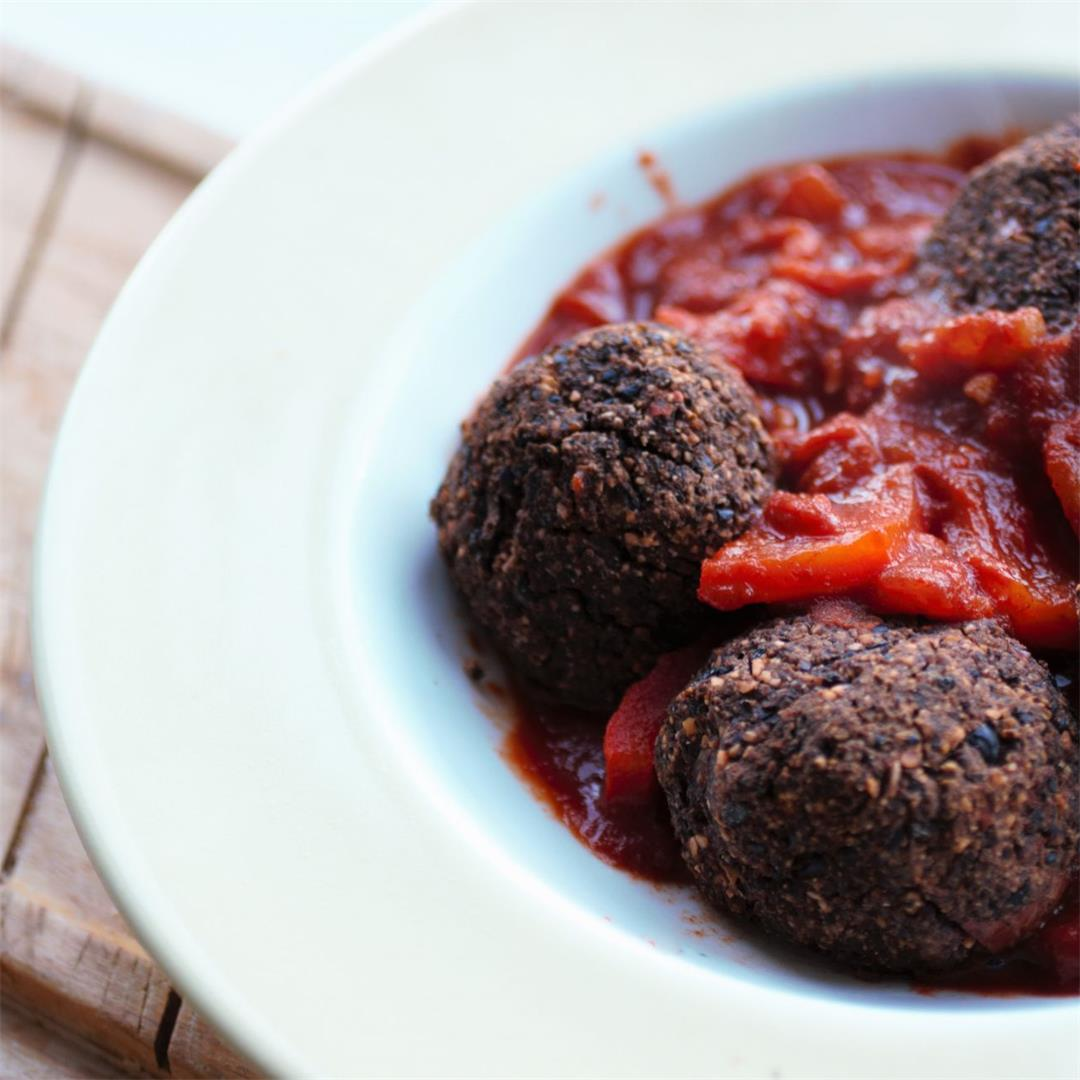 Vegan Black Bean Meatballs Recipe