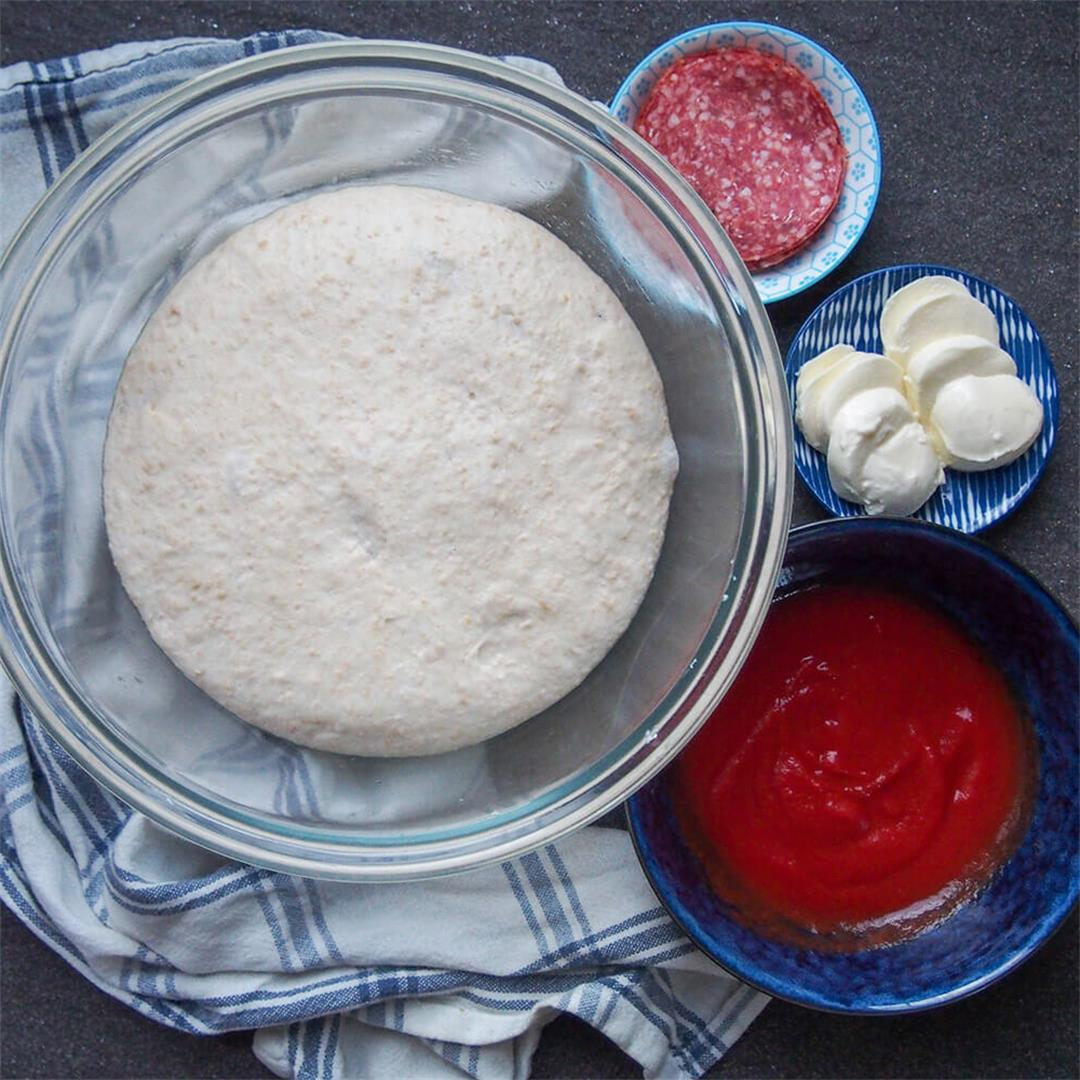 Sourdough pizza dough