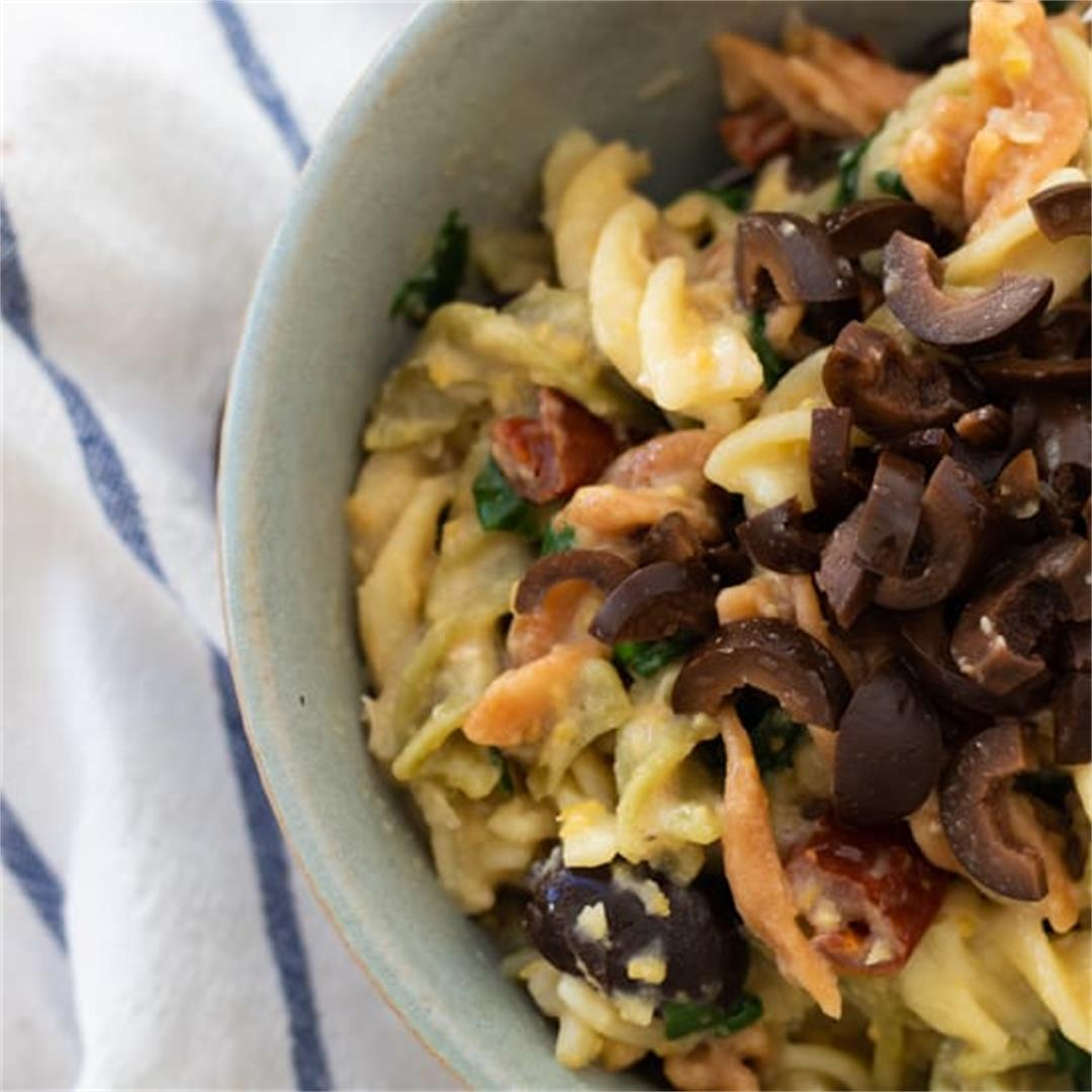 One Pot Hummus Pasta [vegan]