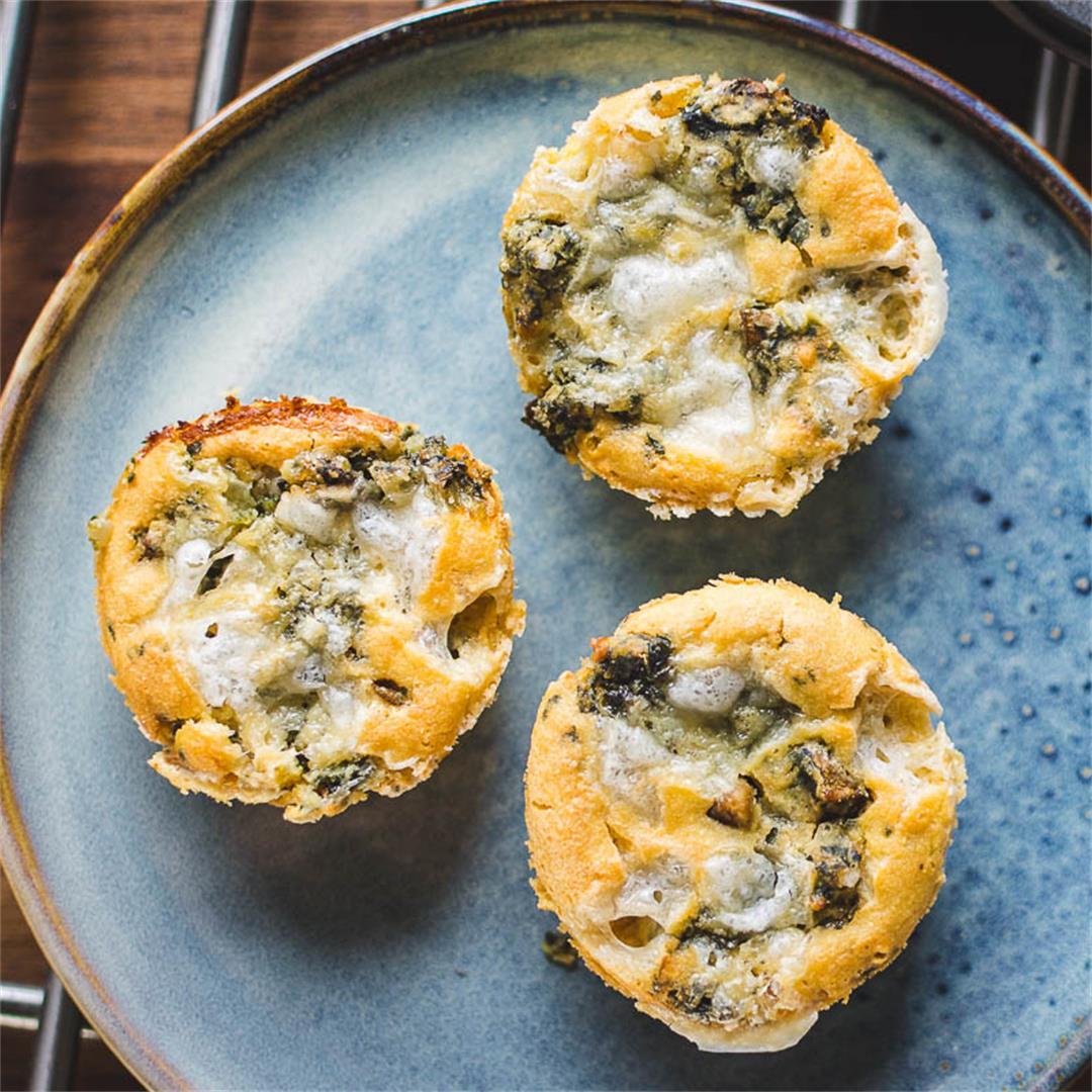 Chickpea flour omelet muffins (Gluten-free)