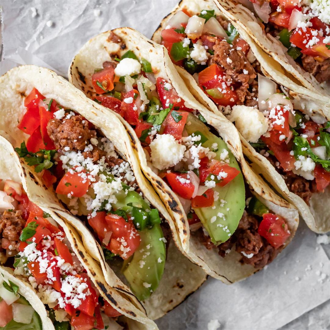 Vegetarian Ground Beef Tacos for Cinco de Mayo - Cooking Therap