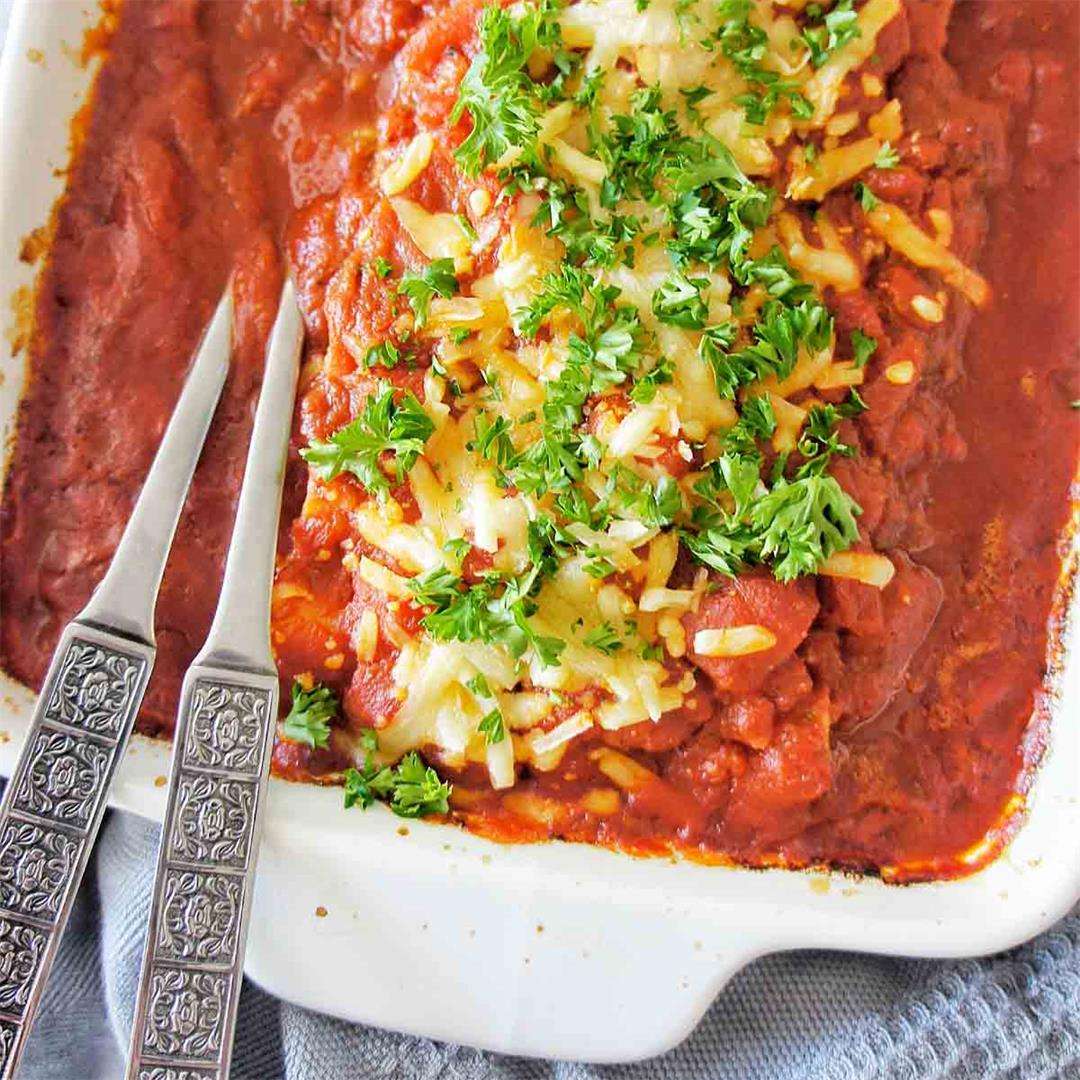Easy Spinach and Ricotta Cannelloni
