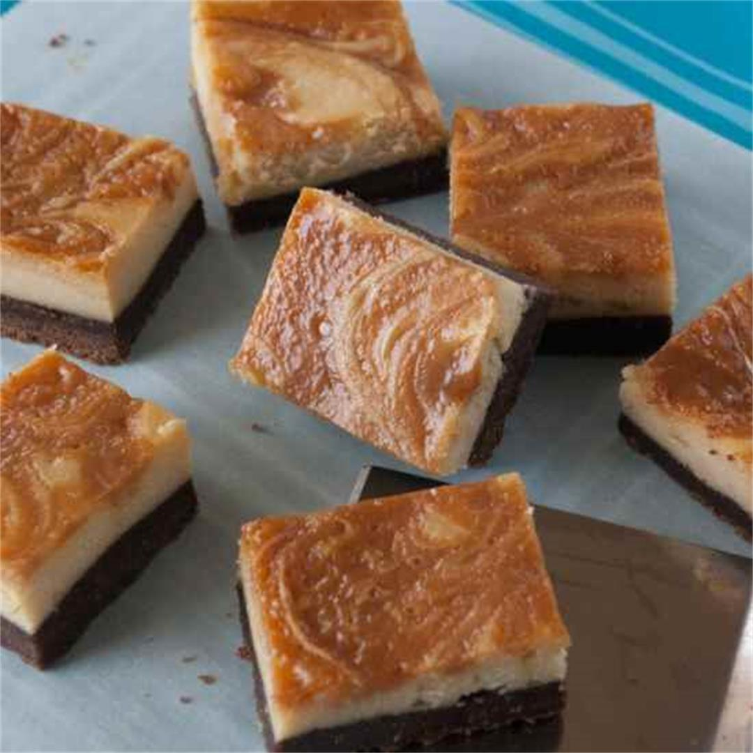 Caramel Swirl Cheesecake Brownies