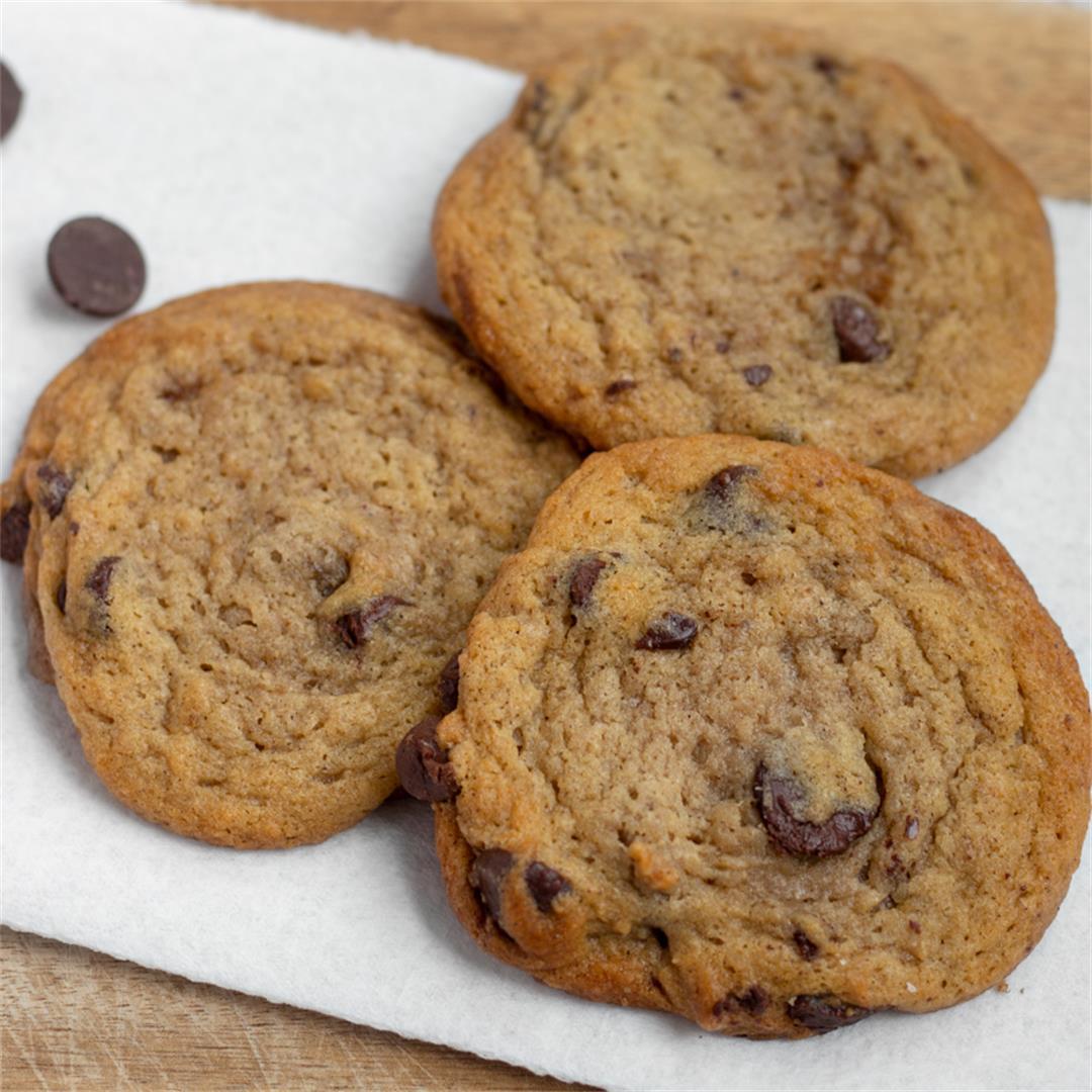 High Altitude Chocolate Chip Cookies (Vegan)