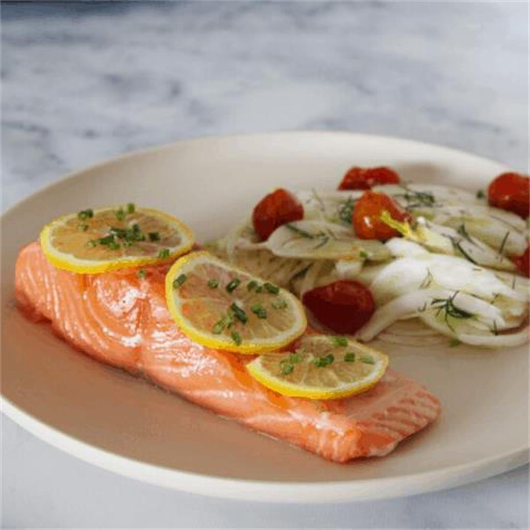 Sous Vide Salmon with Fennel Salad