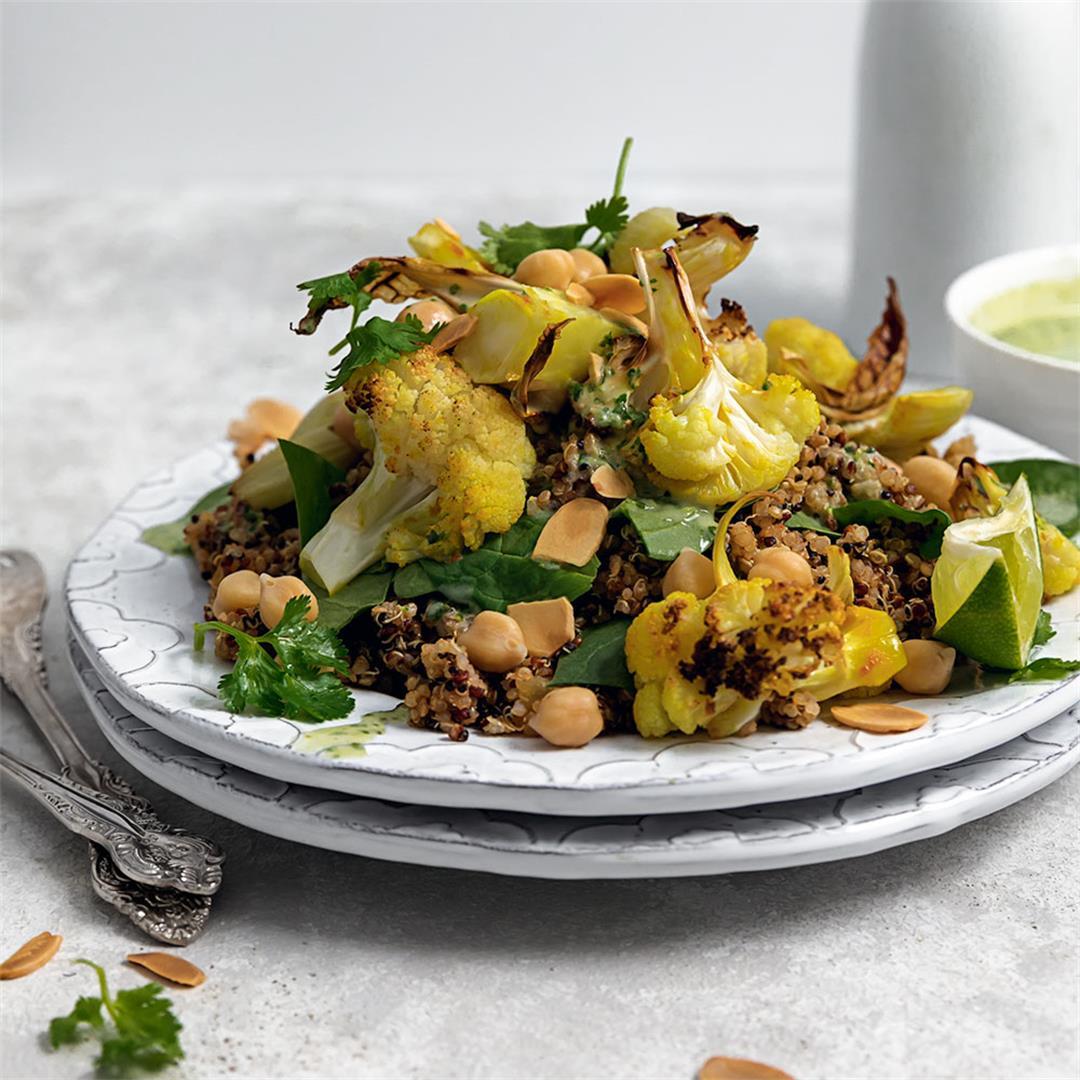 Perfect Roasted Cauliflower Salad with Chickpeas