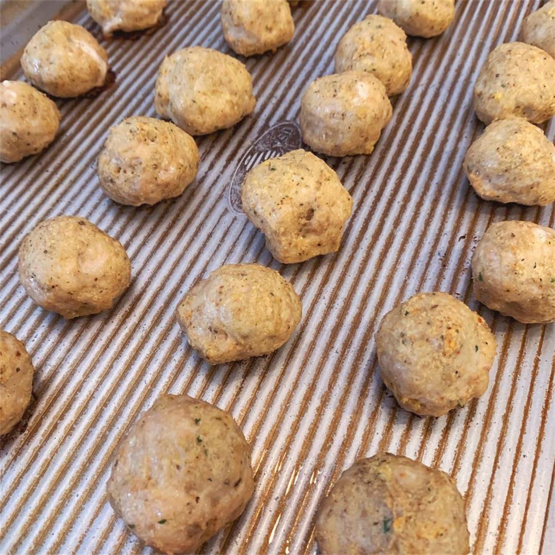 Big Batch Chicken Meatballs