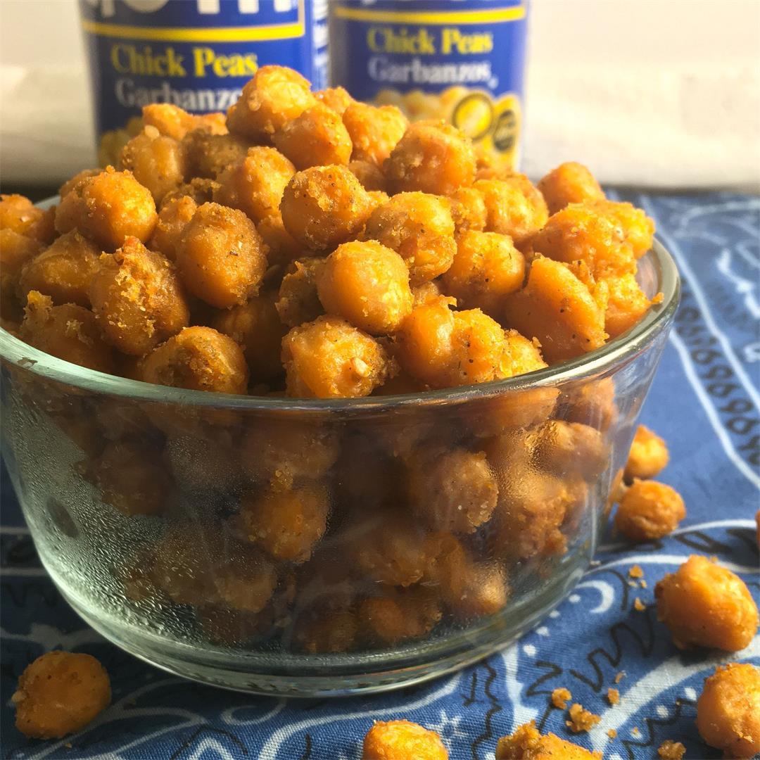 Zaatar Chickpeas (Only 4 Ingredients!)