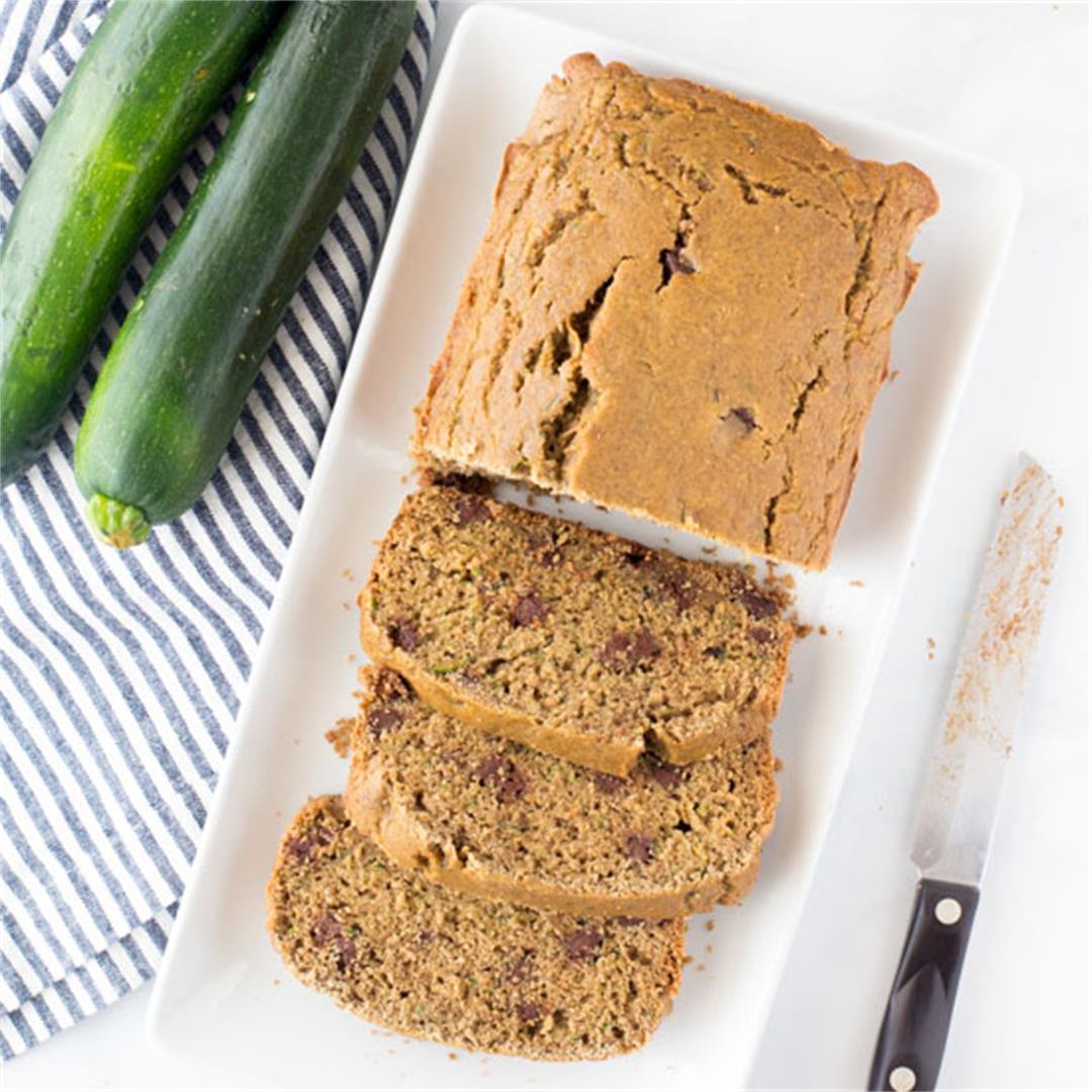 Oat Flour Zucchini Bread