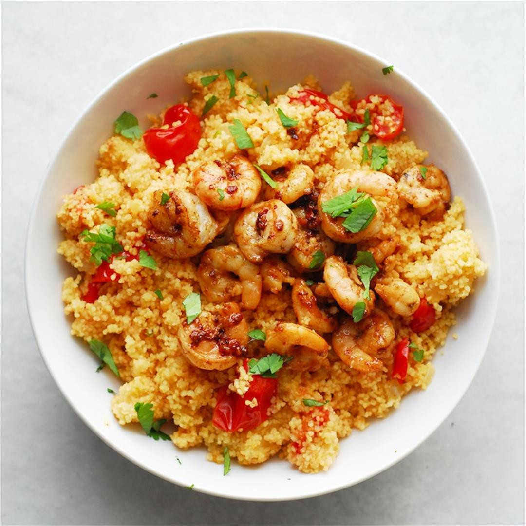 Spicy Shrimp and Couscous