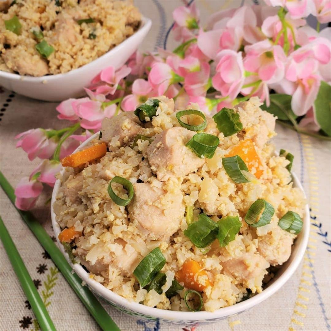 Low Carb Instant Pot Chicken Fried Cauliflower Rice