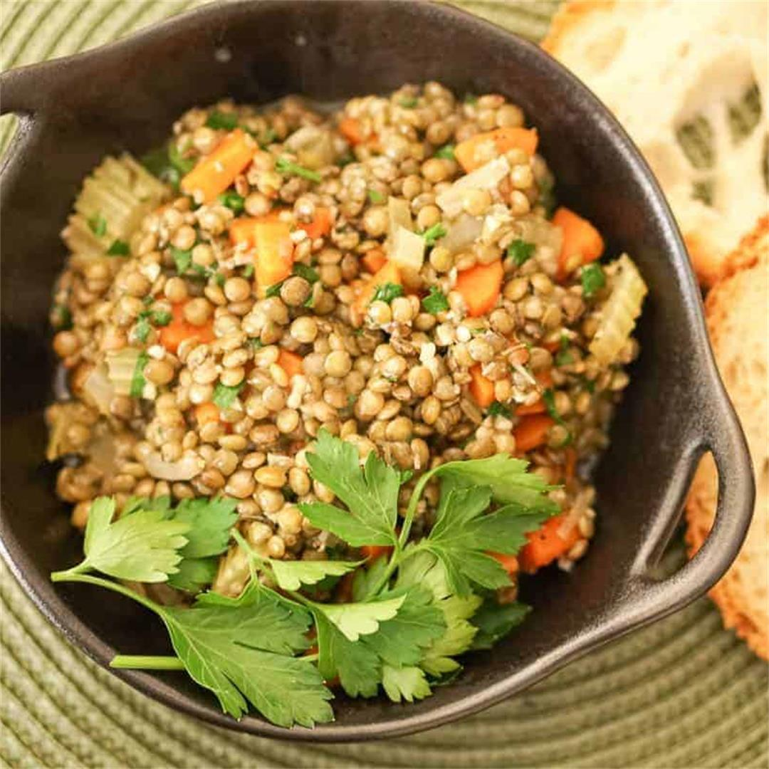 Rustic French Style Lentils Recipe