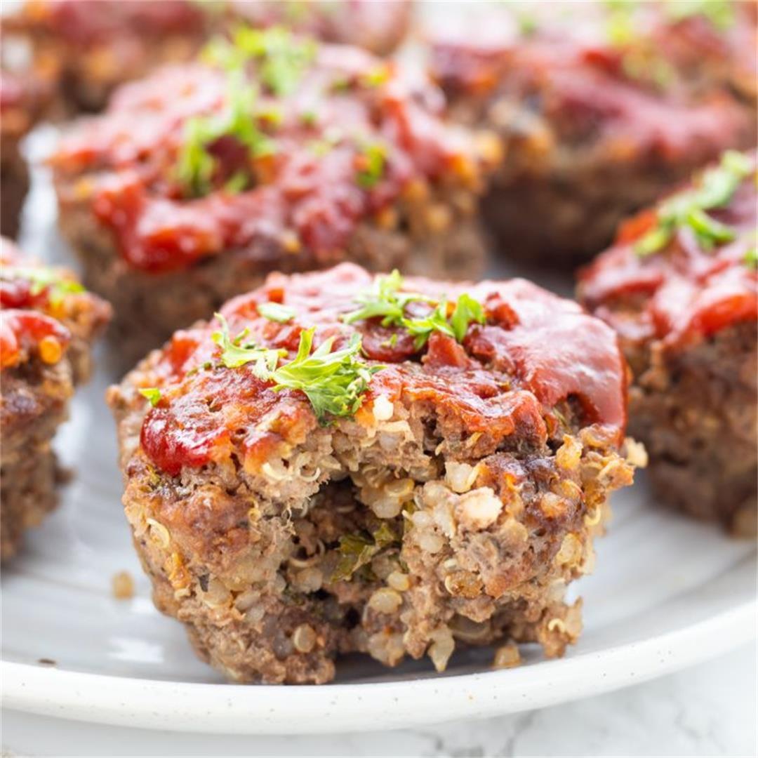 Beef & Quinoa BBQ Meatloaf Muffins