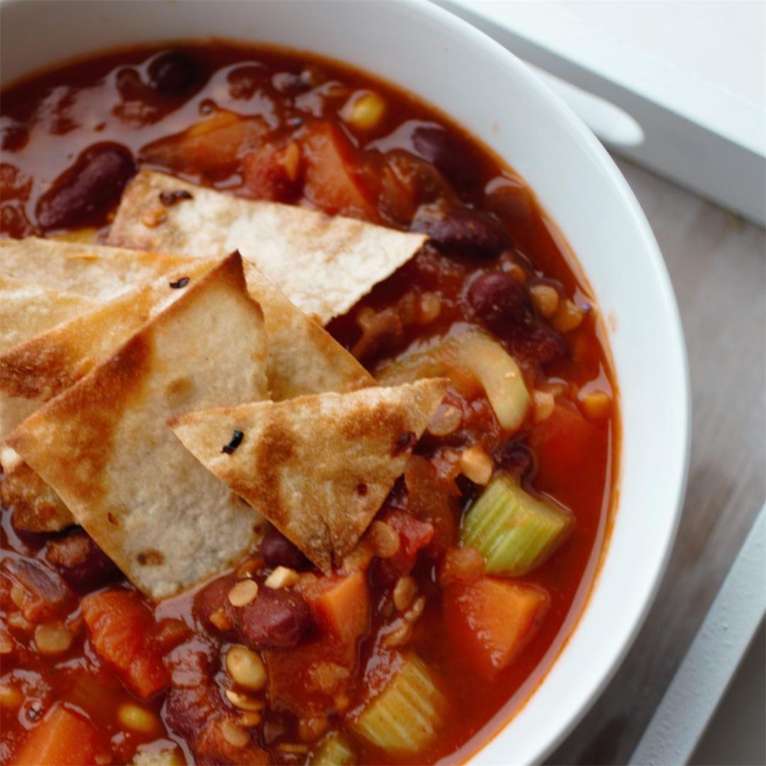 Mexican Lentil & Bean Soup Recipe