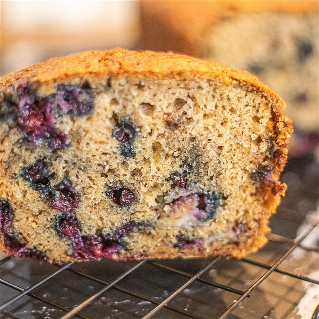 Classic Banana Bread Recipe with Huckleberries