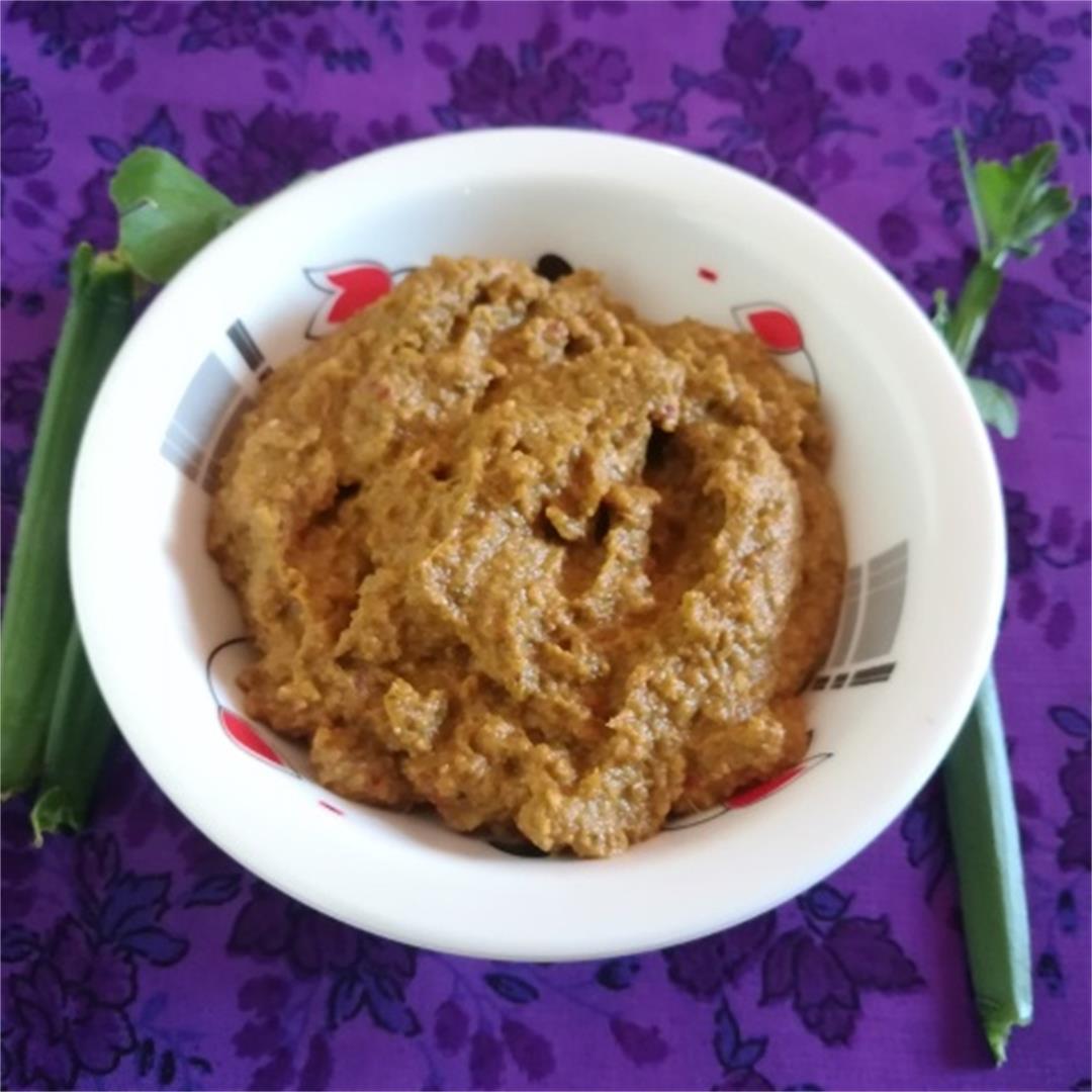 pirandai chutney recipe , how to make pirandai chutney recipe,