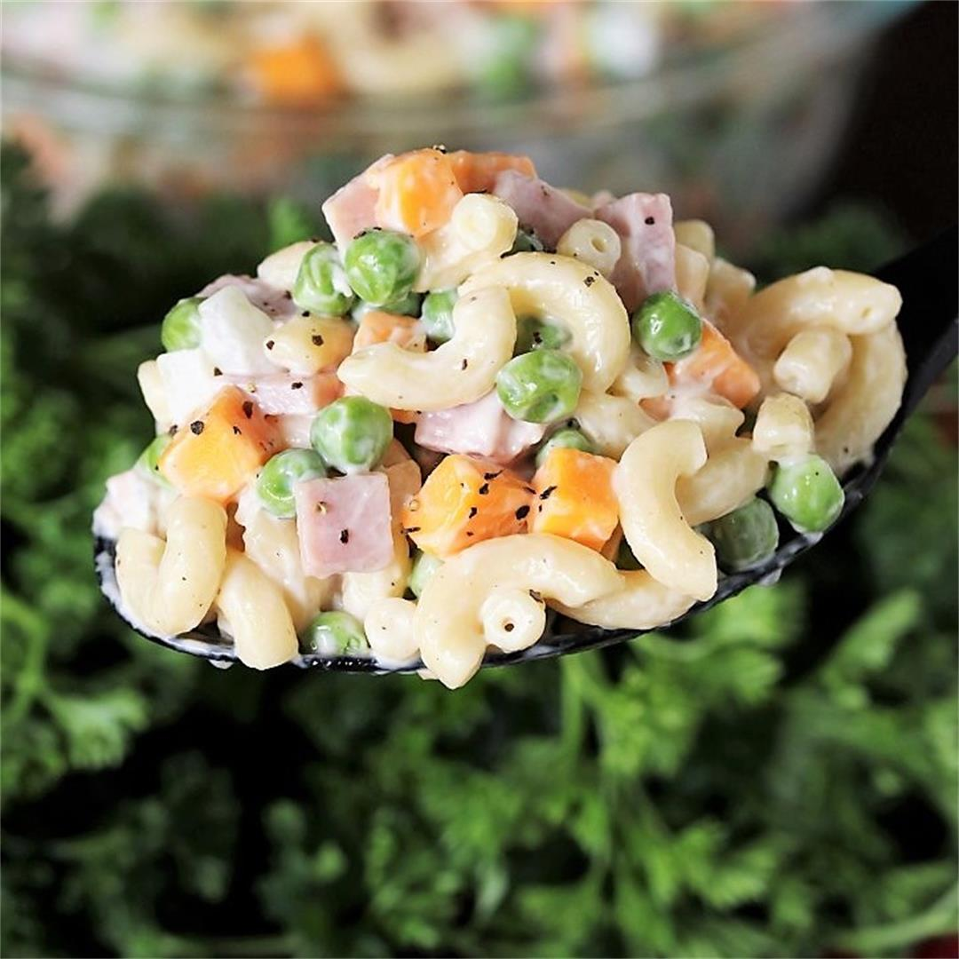 Ham & Cheese Macaroni Salad