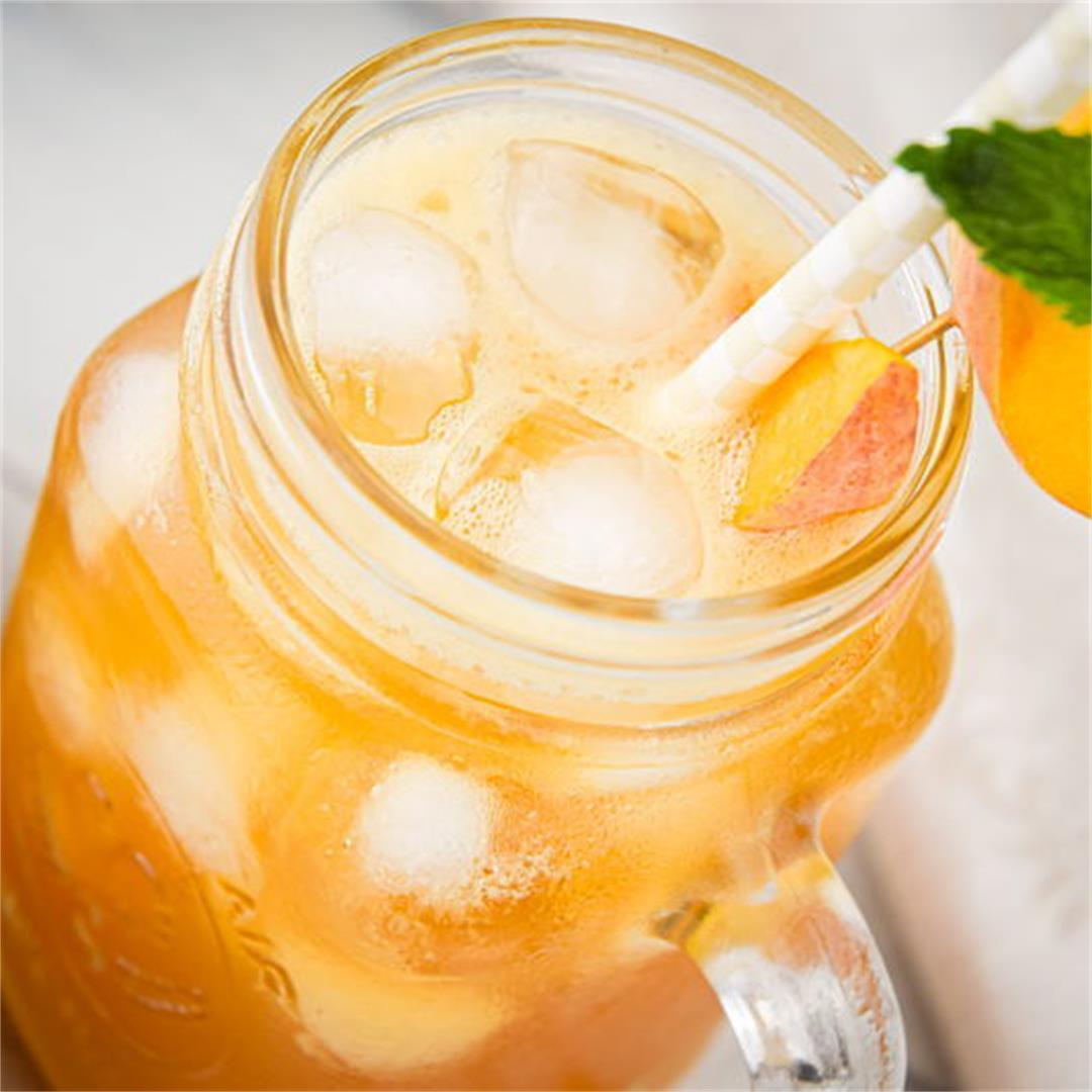 Peachy Iced Green Tea