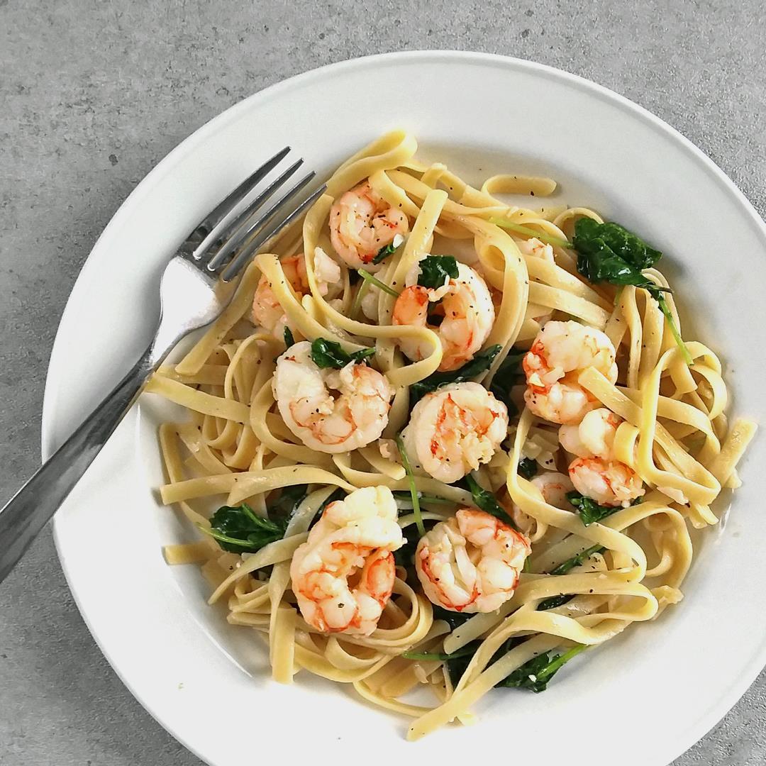 Easy Shrimp Scampi with Kale