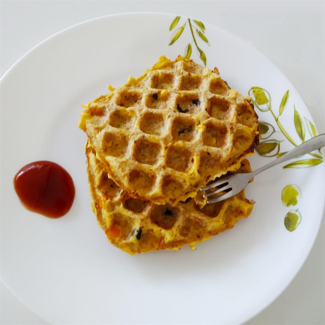 Quick Savoury Bread waffle