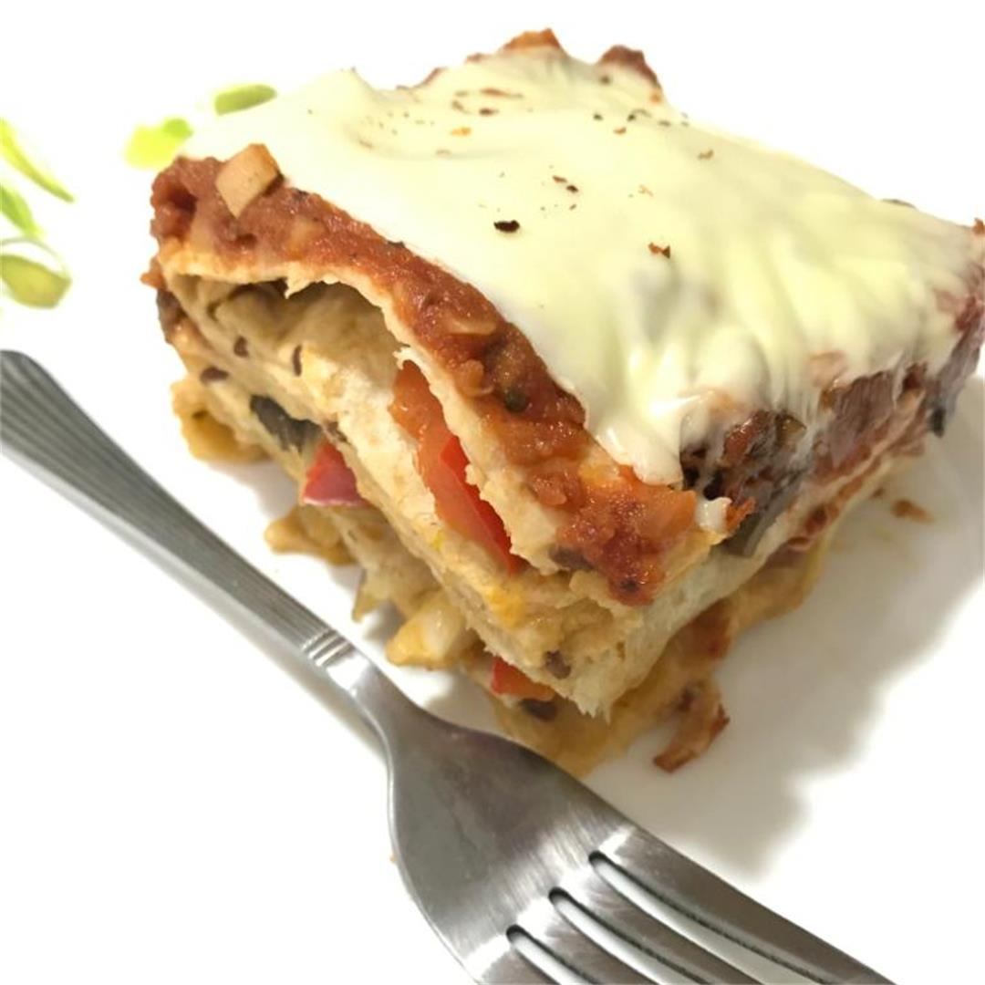 Stovetop Tortilla lasagna