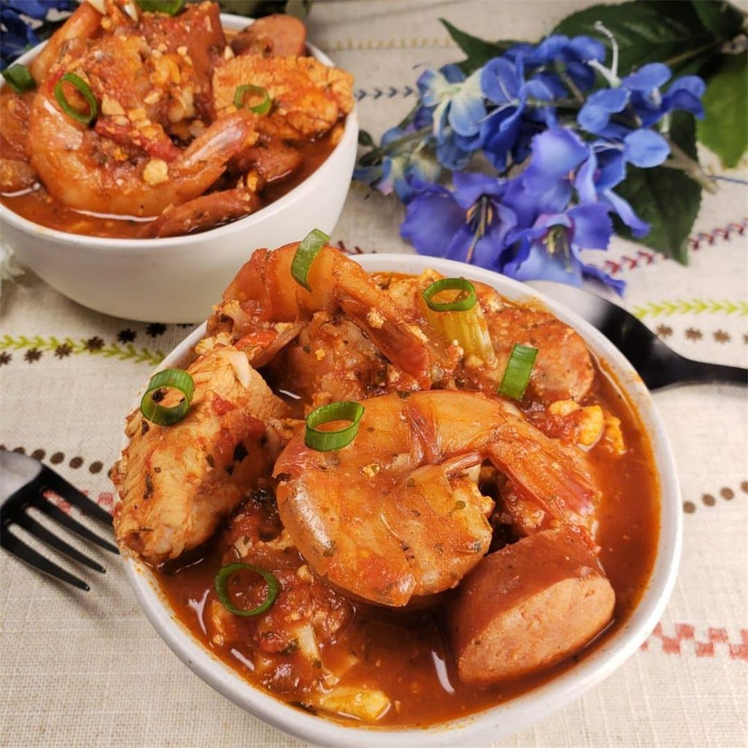 Instant Pot Pressure Cooker Low Carb New Orleans Jambalaya