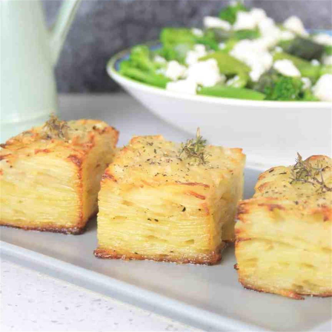 Scalloped Potatoes Gratin or Pavé