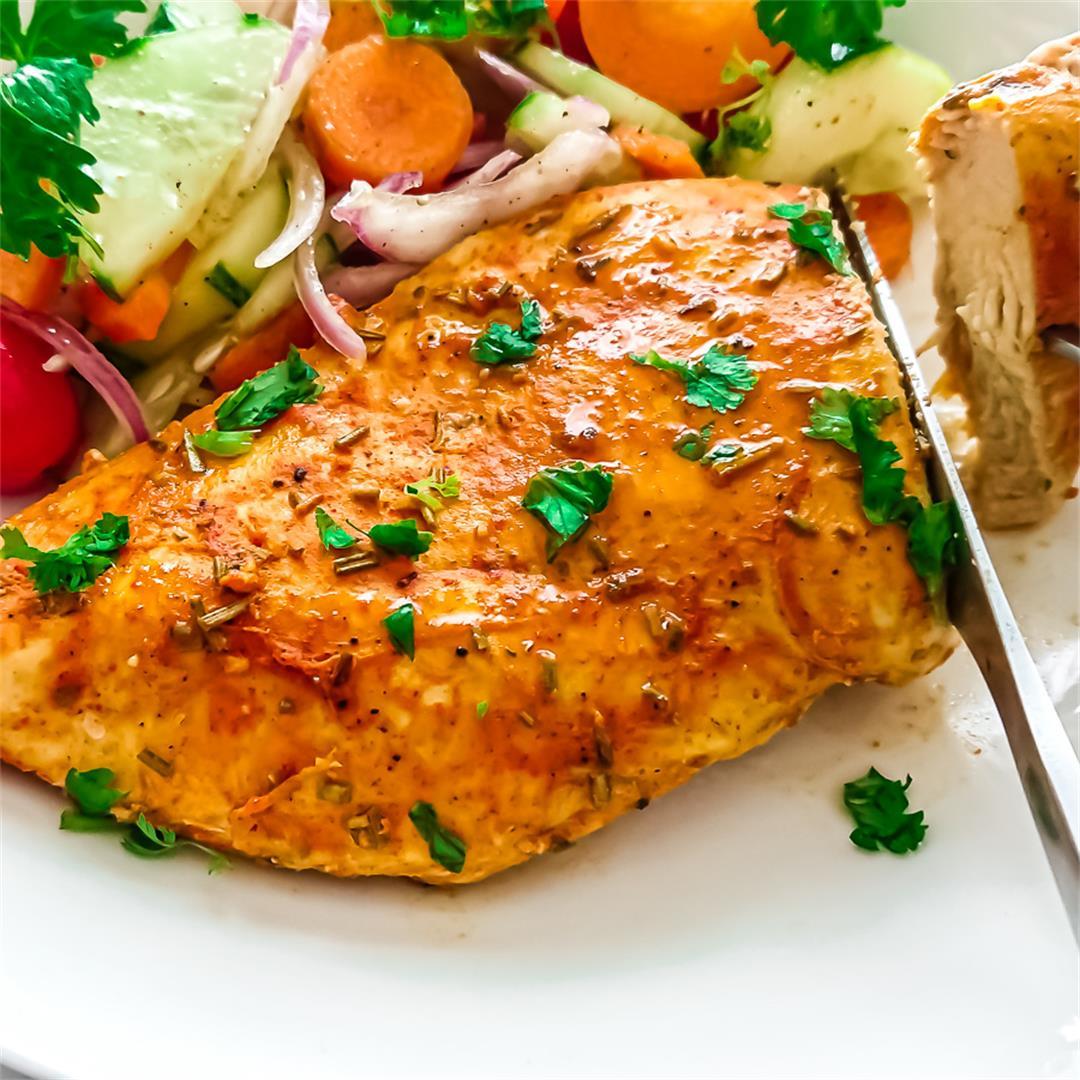 Tender juicy oven-baked chicken breasts