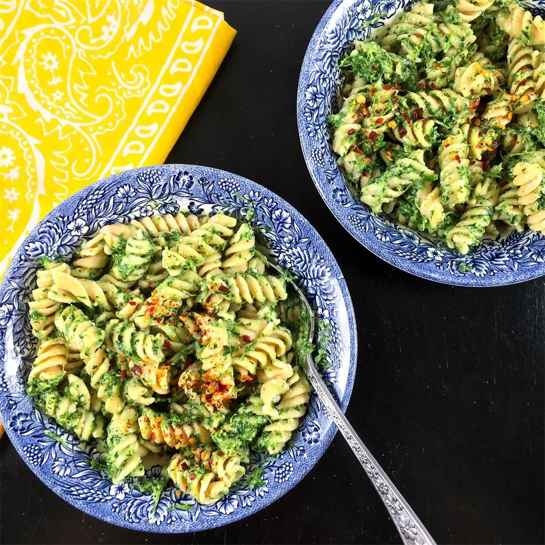 Carrot Greens Recipe (Super Yummy Pesto!)
