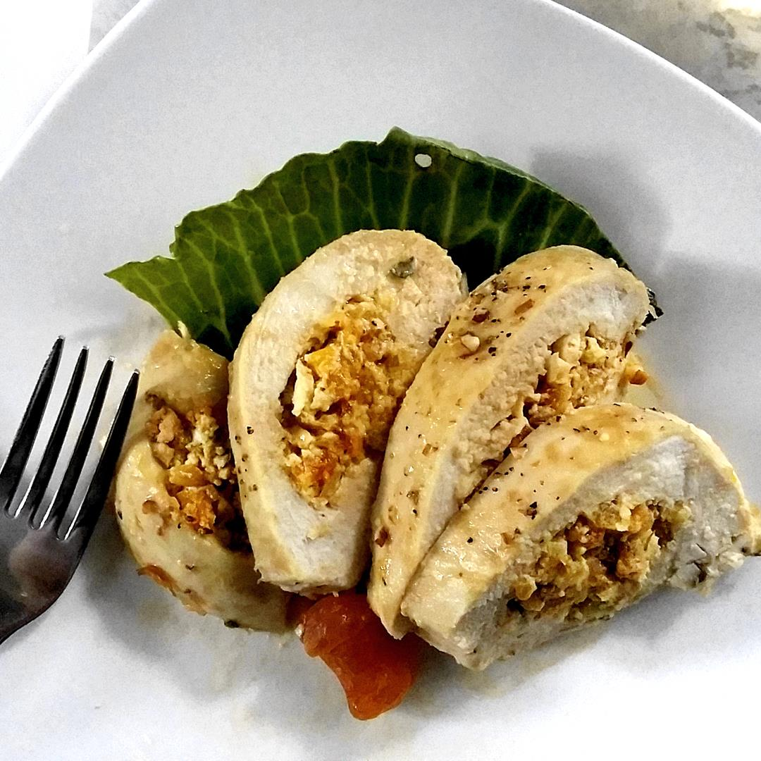 Chicken Breasts stuffed with Apricots in a Savory Chèvre