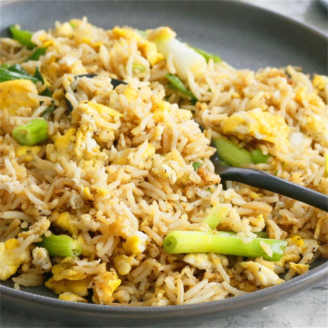 Egg Fried Rice (5-Minutes, 5-Ingredients) - Kitchen @ Hoskins